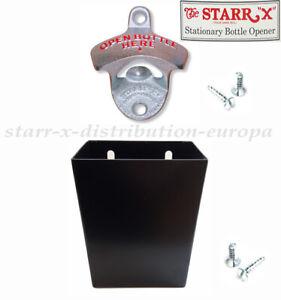 USA WAND-FLASCHENÖFFNER KORKEN-BOX Set Little Jack STARR Compact Metal Catcher