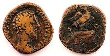 Roma-Marco Aurelio. Sestercio 180 d.C. Roma, Cobre 24,1 g. escasa