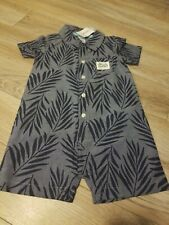 New Carters Baby Boy Romper Shorts Outfit Blue 18 Months