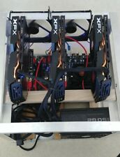 3 GPU Mining Rig 89 MH/s Ethereum Crypto Currency XFX XXX RX580