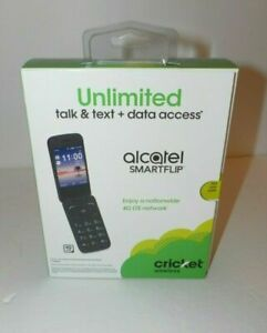 Alcatel SMARTFLIP -Cricket Wireless- HD Voice Wifi Flip 4GB New Sealed