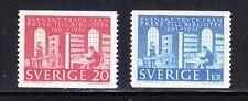 Sweden 1961 MNH Mi 476-477 Sc 600-601 Royal Library,printing,books,science