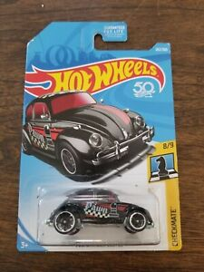 Hot Wheels Volkswagen Beetle Checkmate Pawn Black Metal Base  VHTF
