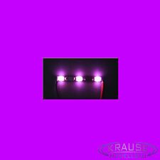 5 x Miniatur Lichtleiste 3 SMD LEDs Typ 0805 pink Modellbahn Kirmes Modellbau