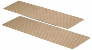 """Non-Slip Carpet Stair Treads, 15 Count, 8""""x30"""", Latte, Pre-Applied Adhesive"""