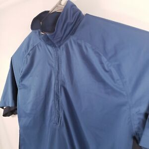 Nike Golf Fit Storm Blue Pullover 1/2 Zip Men's Size XL 333102-442 Chevy Logo