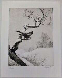 """Stephen Izant """"Protest"""" Signed Drypoint From The Printmaker's Society Of Calif."""