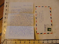 Vintage letter w/ envelope from Delft Holland to Wakefield Massachusetts 1959