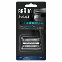Braun 21B Series 3 Electric Shaver Head Replacement Foil and Cassette Cartridge