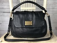MARC BY MARC JACOBS UKITA Black Leather Crossbody Shoulder Bag Convertible $428
