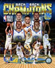 GOLDEN STATE WARRIORS 2018 NBA CHAMPIONS 8x10 PHOTO Back to Back