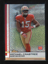 MICHAEL CRABTREE 2009 TOPPS FINEST #70 REFRACTOR ROOKIE RC AF3350