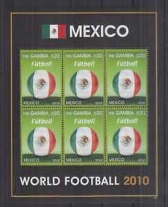 J838. Gambia - MNH - Sports - Football - World Cup 2010 - Mexico