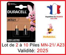 Lot de 2 à 10 Pile MN-21/A23 / K23A - 12V DLC 2025