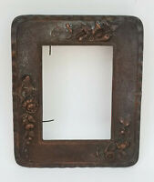 "ANTIQUE VICTORIAN BRONZE PICTURE PHOTO FRAME ~ 7"" x 8.5"""