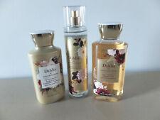 New Bath & Body Works Set Full Sz Dahlia Body Lotion Fragrance Mist & Shower Gel