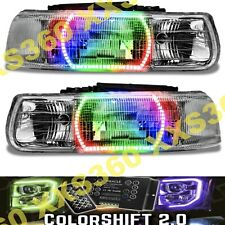 ORACLE Halo 2x HEADLIGHTS for Chevy Tahoe 00-06 LED COLORSHIFT 2.0 w/ remote