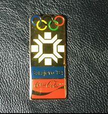 1984 Sarajevo Coca Cola Olympic Poster Pin Badge~1988 Coke~New~Original Packing!