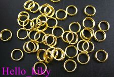 600 pcs Gold plated split rings 8mm M276