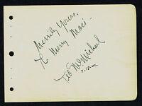 "Ted McMichael (d. 2001) signed autograph 4x5 Album Page Singer: ""The Merry Macs"""