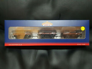 Bachmann 33-091 Triple Pack of 5 Plank China Clay Wagons BR Bauxite Early