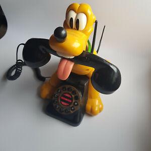 Disney Pluto Animated Telephone Telemania Retro Vintage Not Working