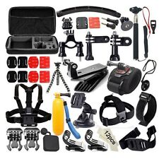 50in1 Pole Head Chest Mount Strap For GoPro Hero 3 4 Camera Accessories Set Kit