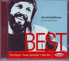 ZOUNDS - KRIS KRISTOFFERSON - For the good times - Best -rare audiophile CD 2010