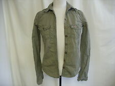 "Ladies Shirt Hollister, size XS, khaki, military style, bust 32"" length 24"" 0916"