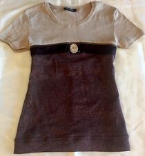 Beautiful Blouse Top Size XS Extra small Designer Rocco Barocco New