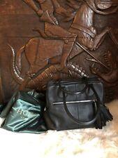 Hobbs of London Large black Leather Bag Tassel Detail Pockets Work Office School