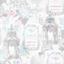 FLOWER  FLORAL VINTAGE GARDEN QUALITY FEATURE DESIGNER WALLPAPER 1025683