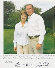 George W. and Laura Bush Signed Photo to Dom Deluise Celebrity Owned COA LT026