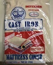 Vintage Cast Iron Defender Twin Mattress Cover