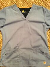 periwinkle Carhartt Force scrubs top medium