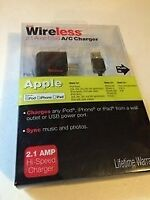 Just Wireless 2.1AMP USB A/C Charger 30 PIN CONNECTOR for iphone 4 /4s/1g/3g/3gs