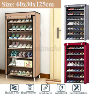 8 Layers Portable Dustproof Shoe Rack Cabinet Shoe Organiser Storage