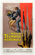 I WAS A TEENAGE WEREWOLF (1957) One sheet poster DELINQUENT-meets-HORROR