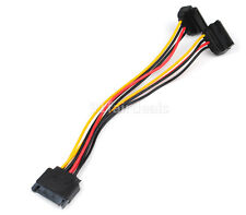 SATA Power 15pin Y Splitter Cable Adapter Male to Female for HDD Hard Drive 20CM
