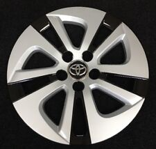 "15"" Silver Black Hubcap Wheelcover AM Fits 2016-2017 Toyota PRIUS"