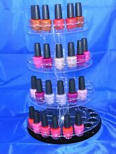 Clear  Acrylic Nail varnish OR other display  stand polish round spin display