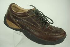 ROGUE mens Brown Leather Rustic Country Moc Oxford Hiking Trail Shoe 9