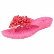 Sandali e scarpe casual rosa zeppa per il mare da donna