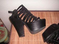 STEVE MADDEN  MADDEN GIRL  Heels Sandals  Platform   Size 8.5  Black wedge
