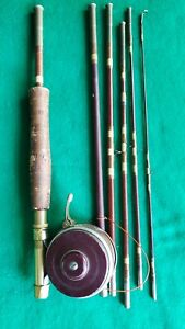 Vintage South Bend Oren-O -Matic  Automatic Fly Reel No. 1130-Model D W/ Rod 7ft