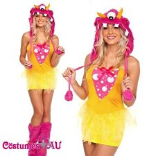 Ladies Halloween Shaggy Shelly Monster Animal Costume Fancy Dress Up Outfits