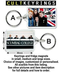 The Young Ones keyring / fridge magnet - Scumbag College, Vyvyan Rick Neil Mike