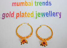 Real looking 22 ct gold plated EARRINGS - Indian Asain Ethnic Style gift  h24