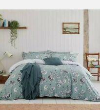 Joules IMOGEN BEE 🐝 Double Size Duvet Cover NEW Duck Egg Blue + 2 pillowcases