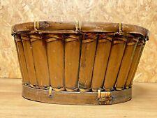 Antique Window Box, Cache Pot Bamboo Rattan, Years 70' , Deco Vintage